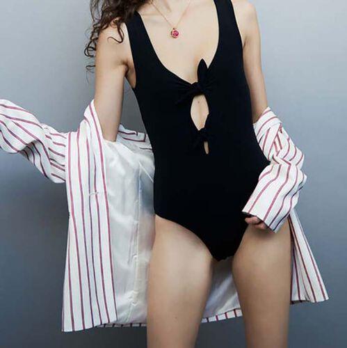 Body impermeable con lazos : Bañadores color Blanco