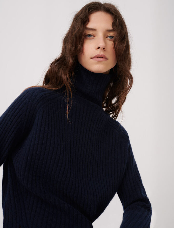 Jersey de cachemira de cuello alto - Toda la colección - MAJE