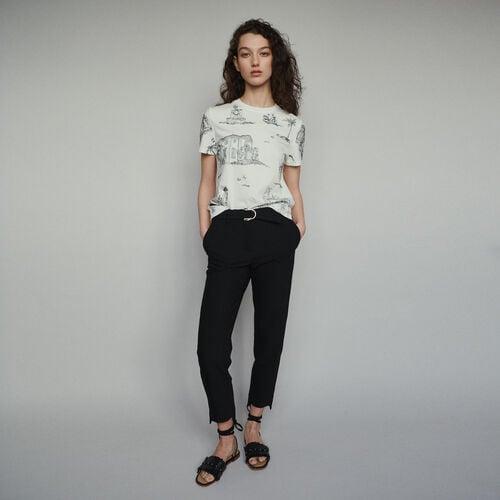 Pantalón recto ceñido : Pantalones color Negro