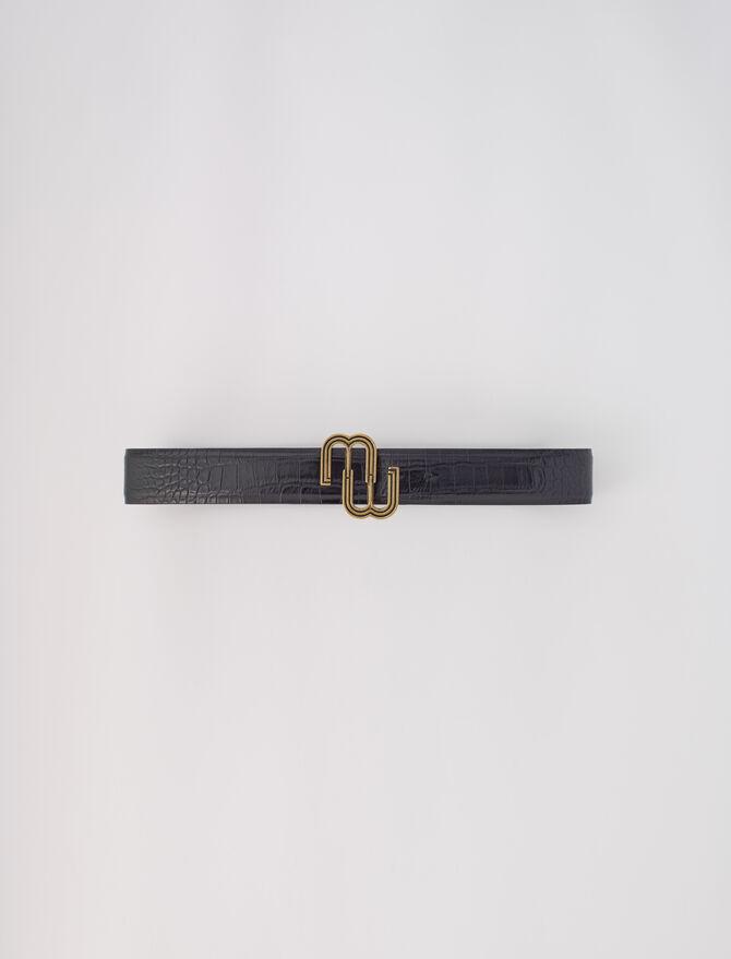 Cinturón doble M de piel de cocodrilo - Prendas excepcionales - MAJE