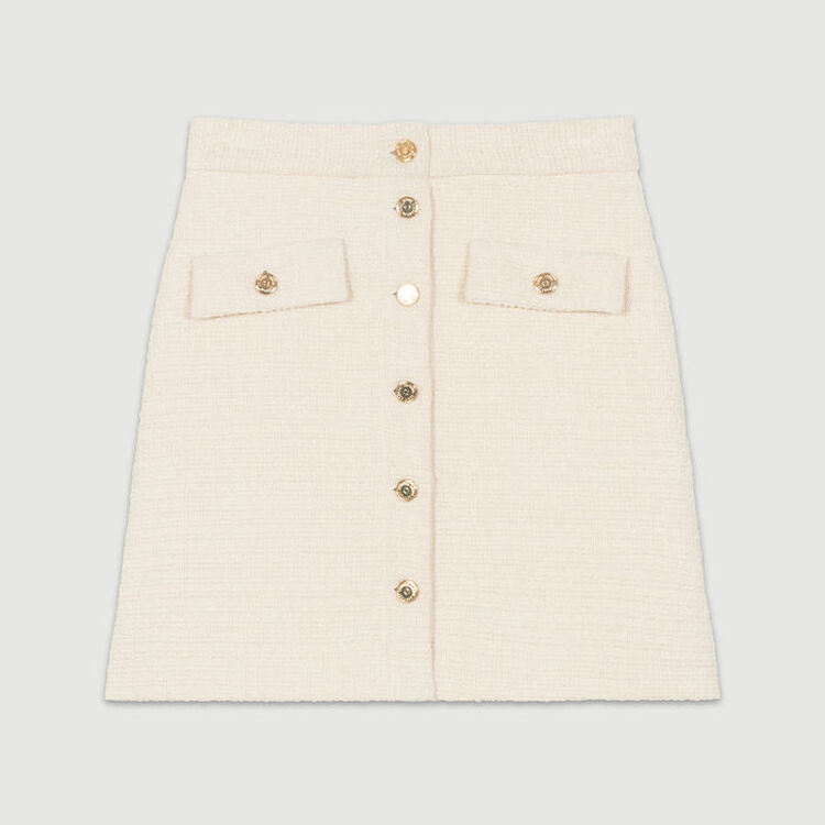 Skirt in tweed : Faldas y shorts color Crudo