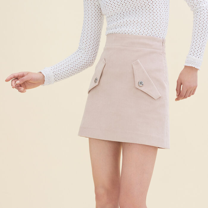 Falda corta de terciopelo - Faldas y shorts - MAJE