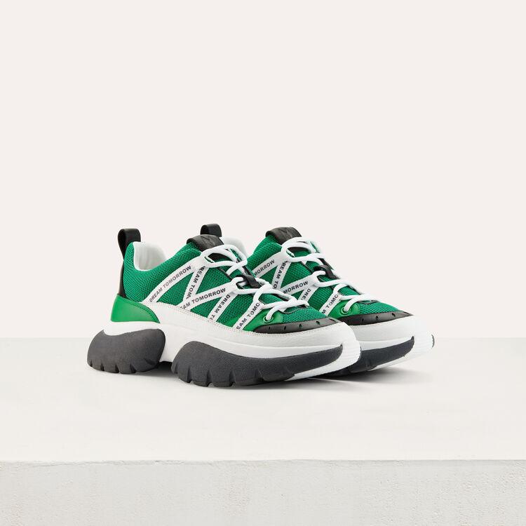 Sneakers W20 urbanas en nylon : Sneakers color Verde