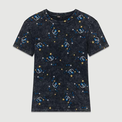 Camiseta de algodón desteñido : T-Shirts color Gris