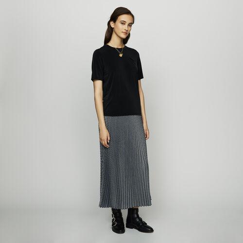 Camiseta de cupro : Prêt-à-porter color Negro