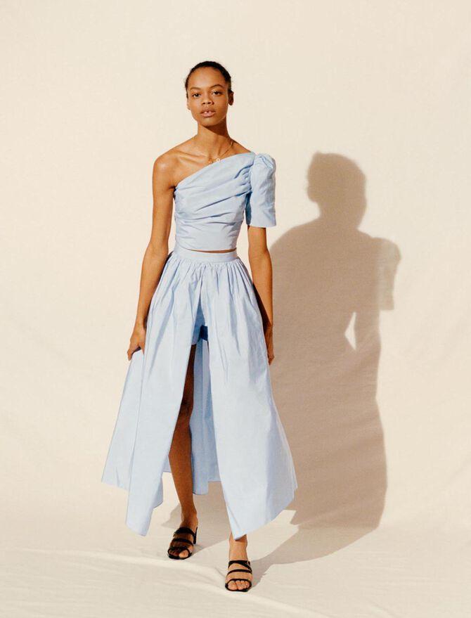 Falda-pantalón de tafetán - Faldas y shorts - MAJE
