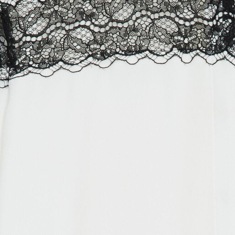Blusa con encaje : Prêt-à-porter color Crudo