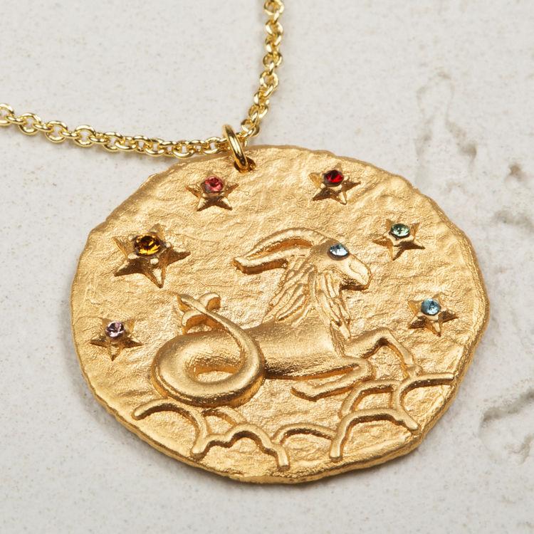 Collar de signo del Zodíaco Capricornio : Bisuteria color OR