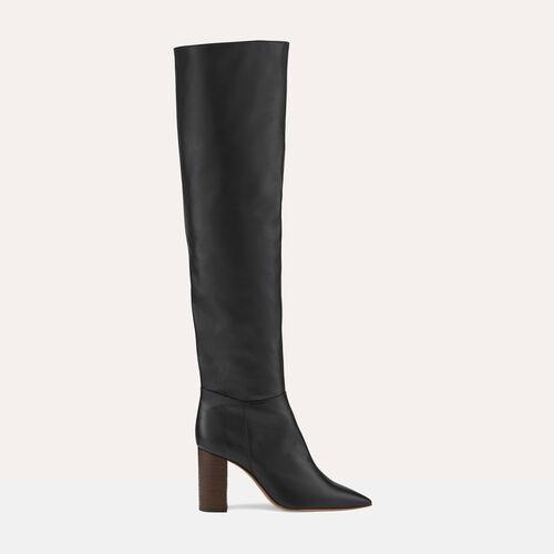 Bota alta mosquetero con tacón - Zapatos - MAJE