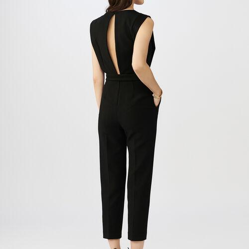 Mono-pantalón sin mangas : Monos color Negro