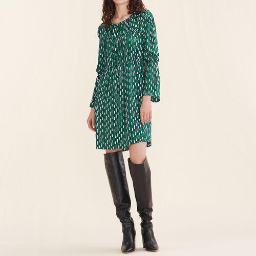 Vestido vaporoso estampado : Vestidos color IMPRIME