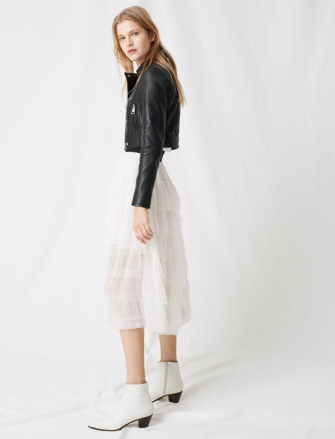 Falda midi en tul inmaculado - Faldas y shorts - MAJE