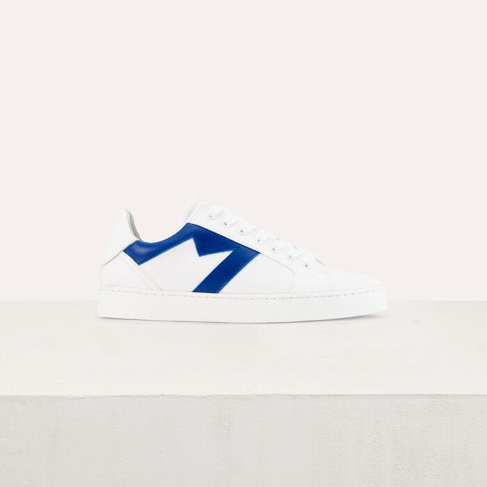 Deportivas de cuero con recorte M : Zapatos color Azul