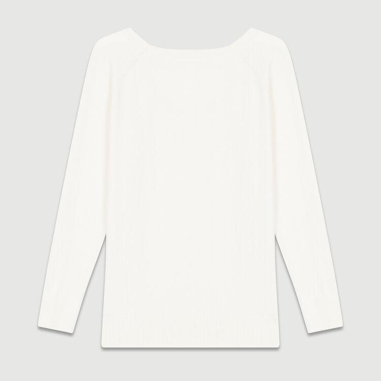 Jersey con escote en la espalda : Malla color Crudo