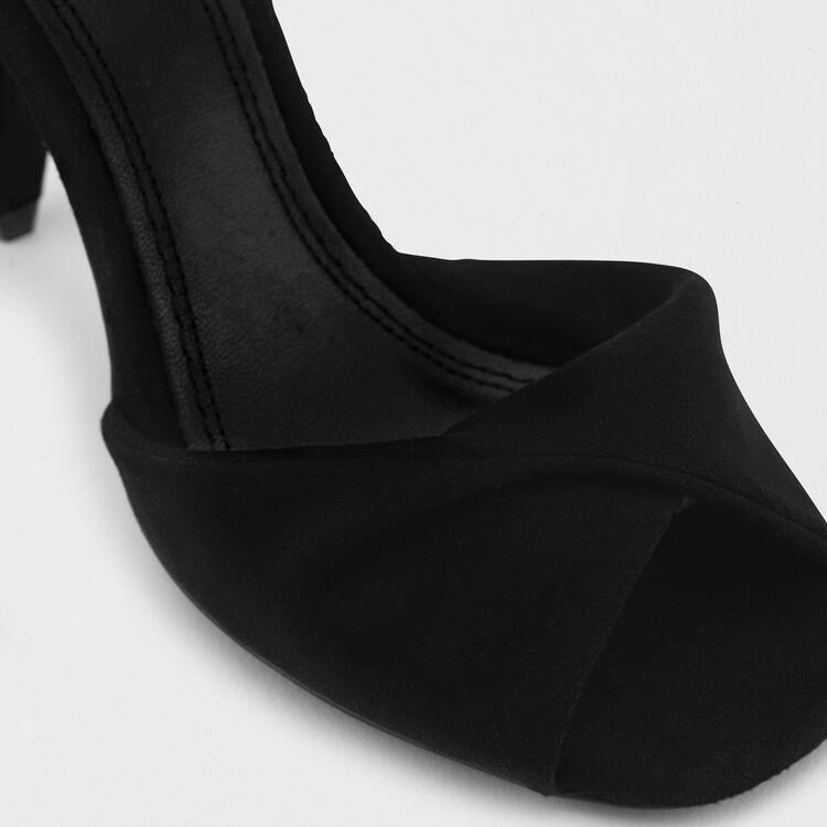 Sandalias altas de cuero Gold : Zapatos color Negro