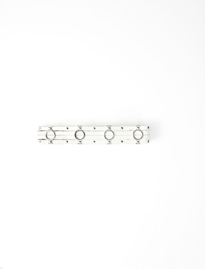 Cinturón de cuero detalles metalizados - Cinturones - MAJE