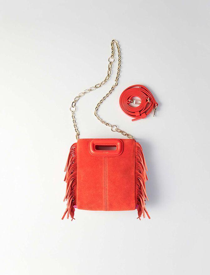 Bolso M Mini gamuza bicolor con cadena -  - MAJE
