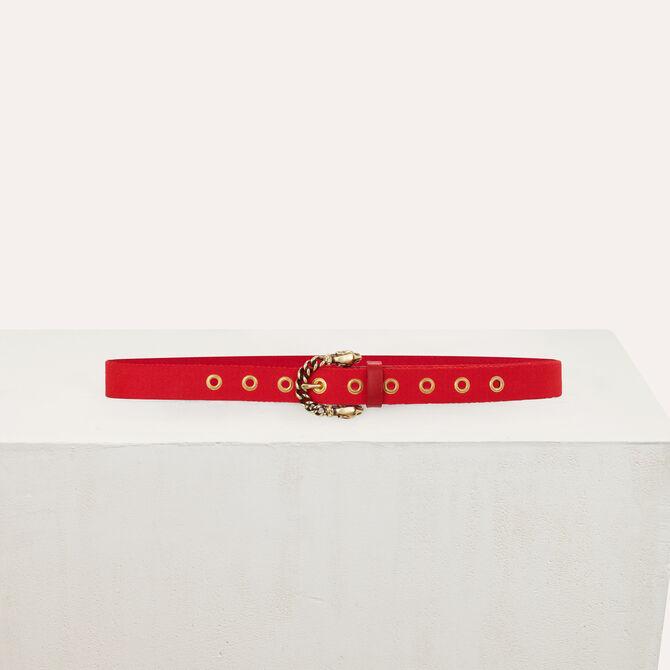 Cinturón pantalón con hebilla pantera - Accesorios - MAJE