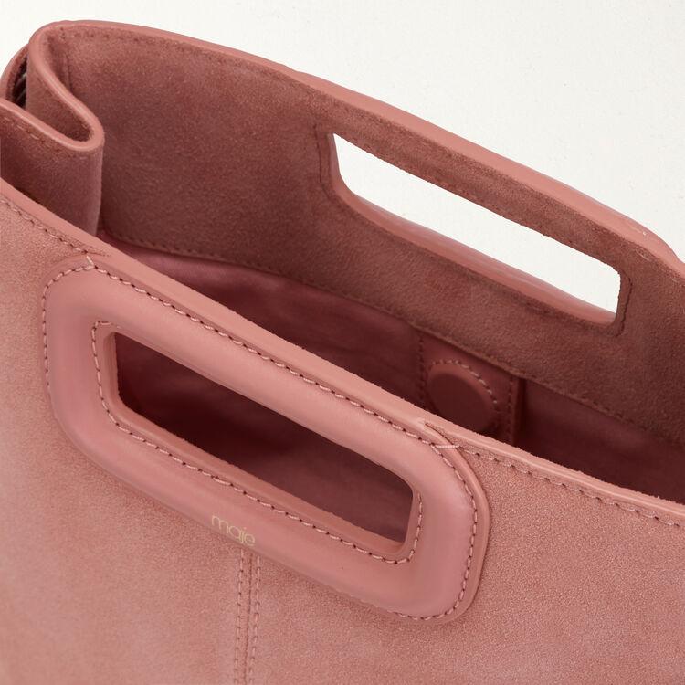 Bolso M de cuero de gamuza : Bolsos M color Rosa