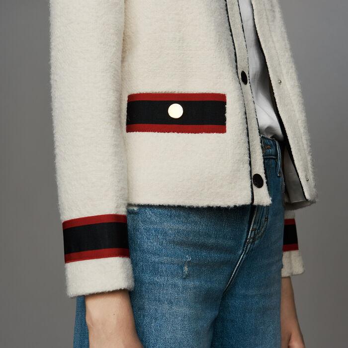 Chaqueta corta en tweed : Prêt-à-porter color Crudo