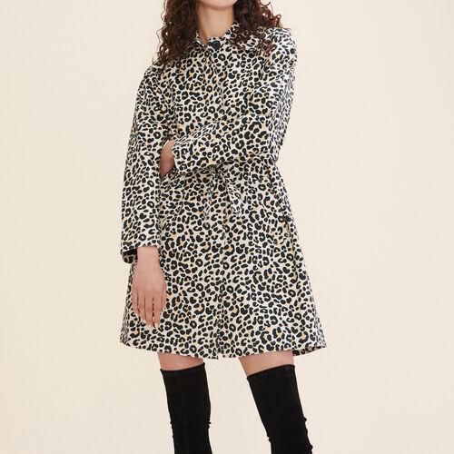 Abrigo con estampado de leopardo : Abrigos color IMPRIME