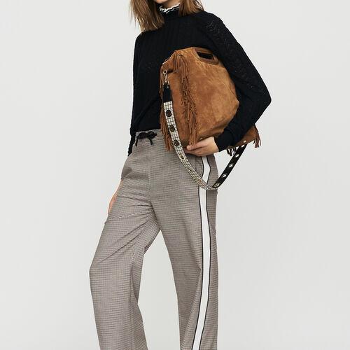 Pantalón con elástico de cuadros : Office girl color CARREAUX