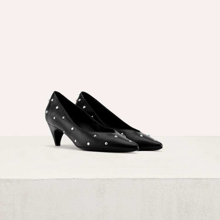Salón con strass y pequeño tacón : Zapatos de tacón color Negro