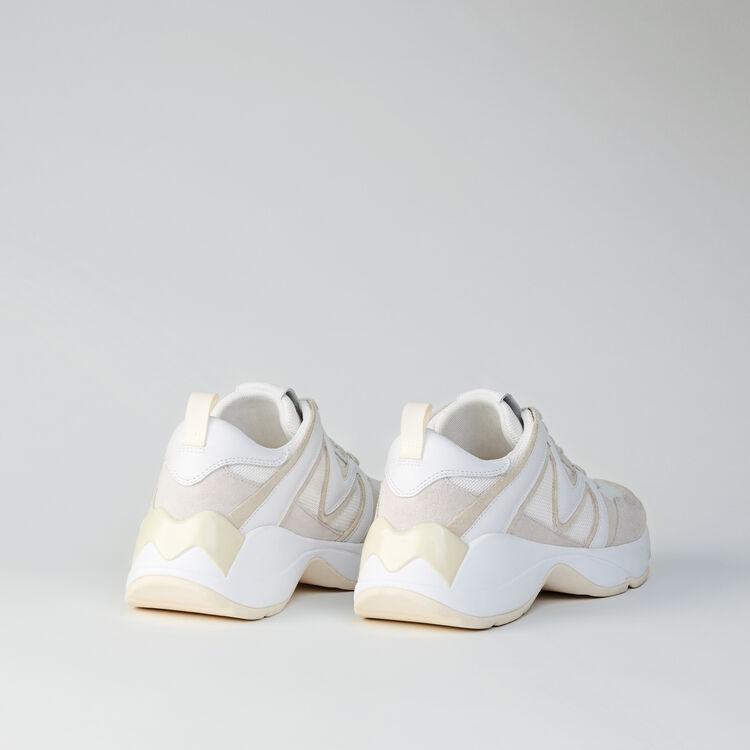 Sneakers W22 en mezcla de materias : Sneakers color Blanco Roto