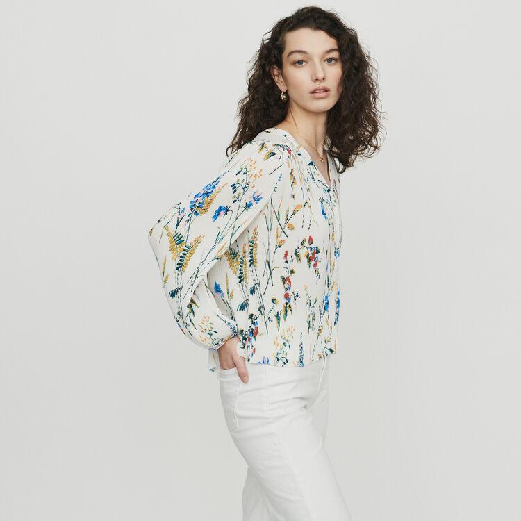 Top plisado joya estampado : Tops y Camisas color IMPRIME