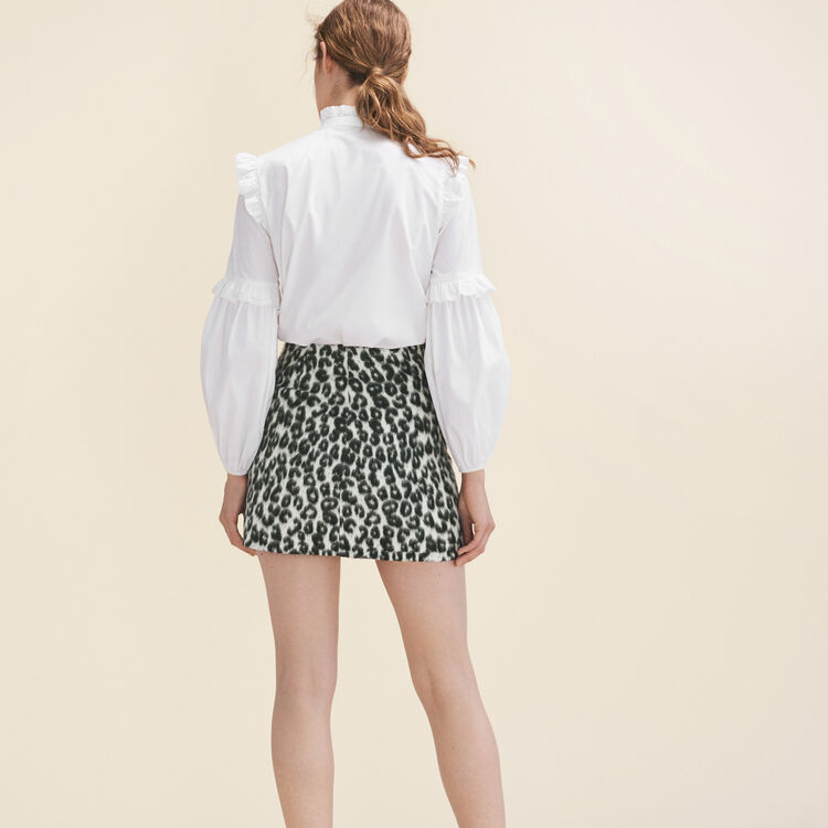 Falda trapecio con motivo de leopardo : Faldas y shorts color Estampado