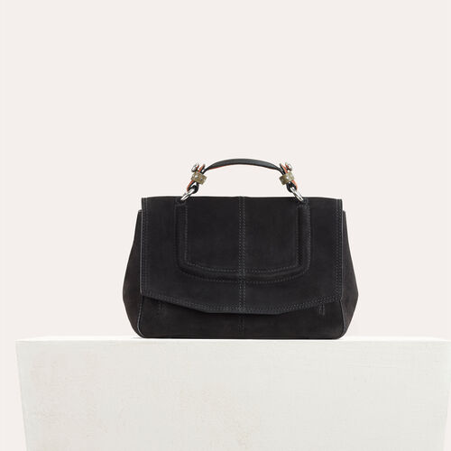 Bolso minicartera de ante bicolor : Black friday color Negro