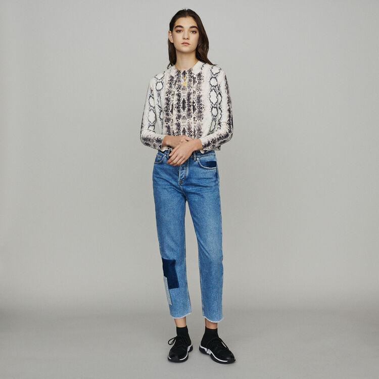 Cárdigan corto estampado píton : Jerseys y cárdigans color IMPRIME