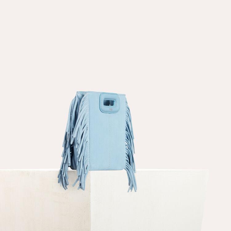 Minibolso M de ante : Colección de verano color Azul Celeste