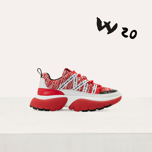 Zapatillas deportivas en tweed W20 : Sneakers color Rojo