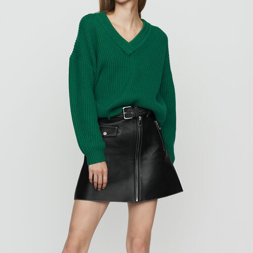 Jersey oversize de lana mezclada : Nueva Colección color Negro