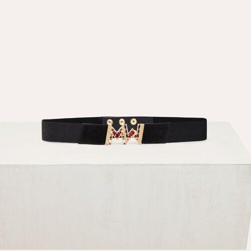 Cinturón largo elástico : Accesorios color Negro