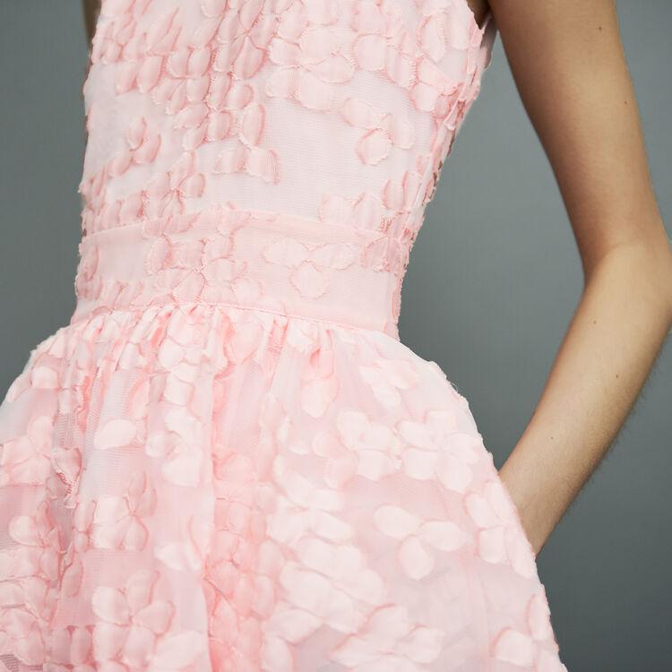 Vestido corto sin mangas de malla cesto : Vestidos color Rosa