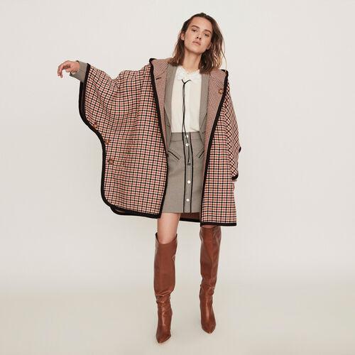 Abrigo tipo poncho reversible : Campaña FW19 color CARREAUX