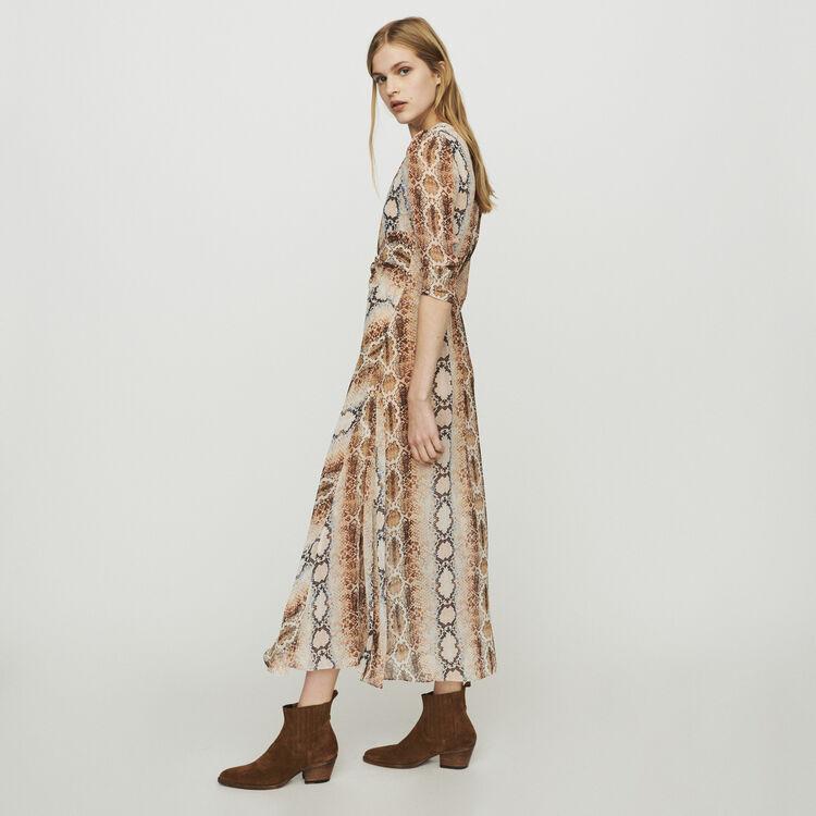 Vestido largo con estampado pitón : Vestidos color Estampado