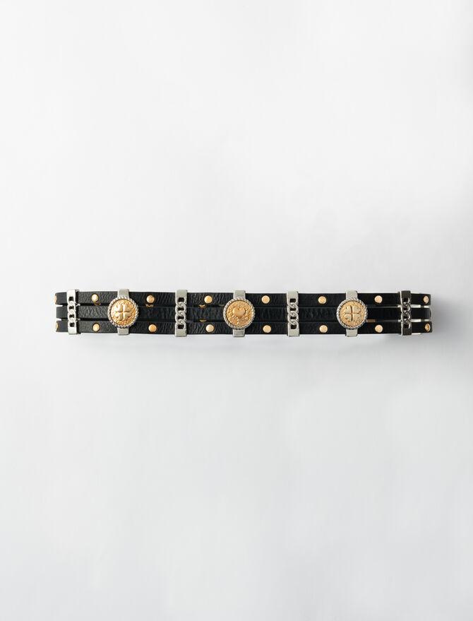 Cinturón tiro alto de cuero - Cinturones - MAJE