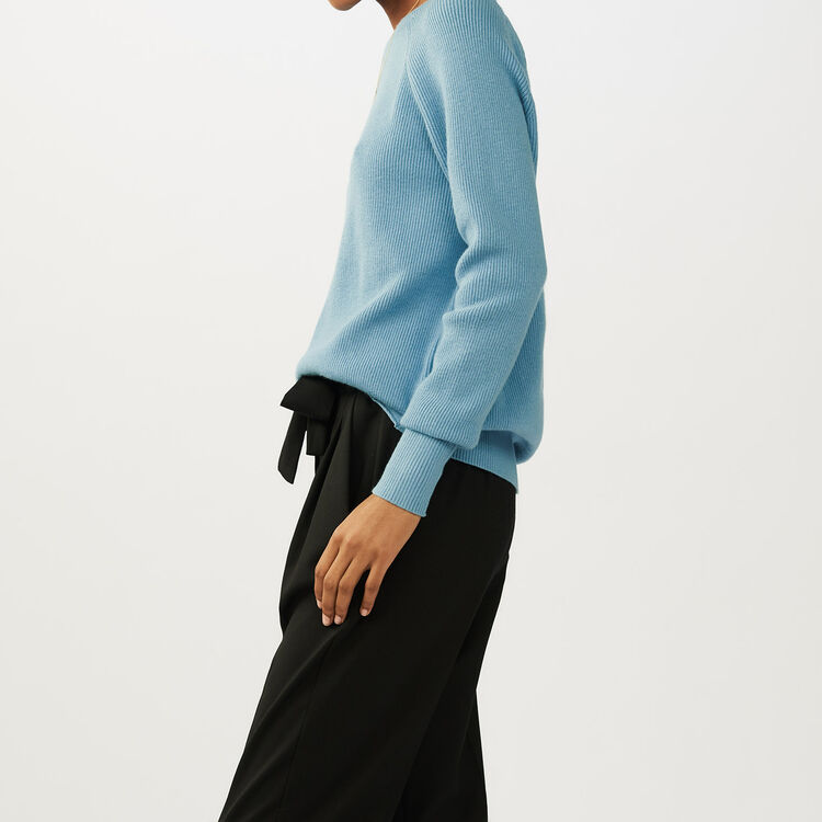 Jersey con bandas cruzdas en la espalda : Malla color Azul Celeste