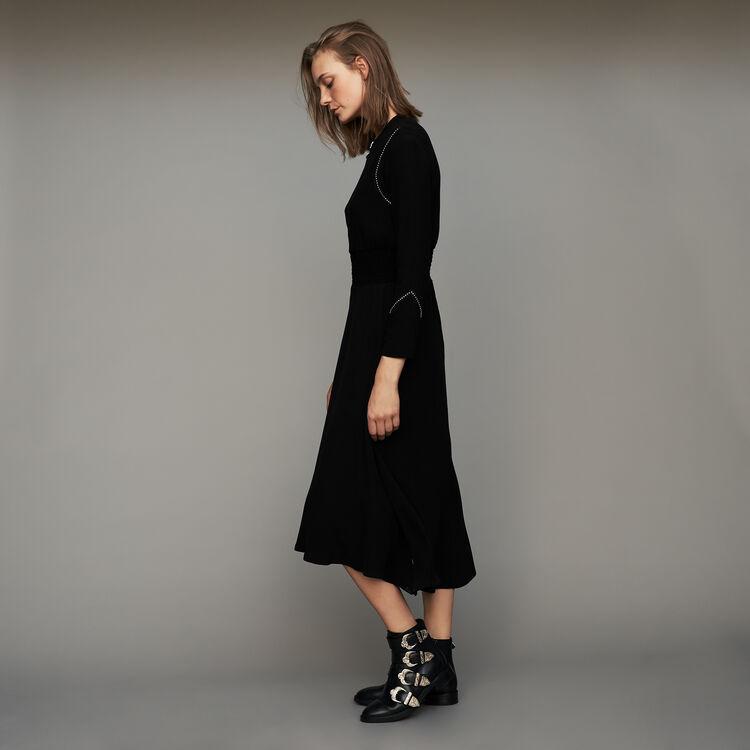 Vestido de manga larga : Vestidos color Negro