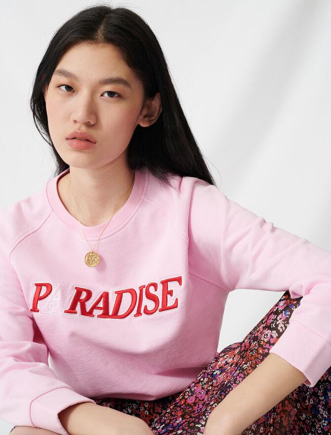 Sudadera mullida con bordado «Paradise» - Jerseys y cárdigans - MAJE