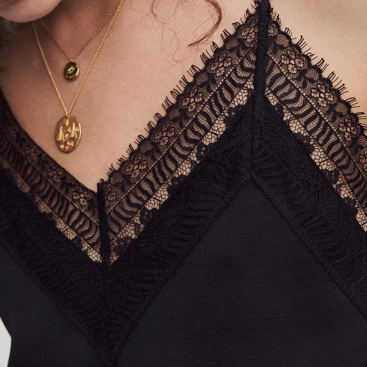 Mono pantalón de raso : Colección invierno color Negro