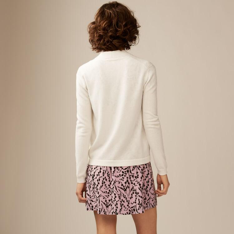 Chaqueta fina en lana y cachemir : Malla color Crudo