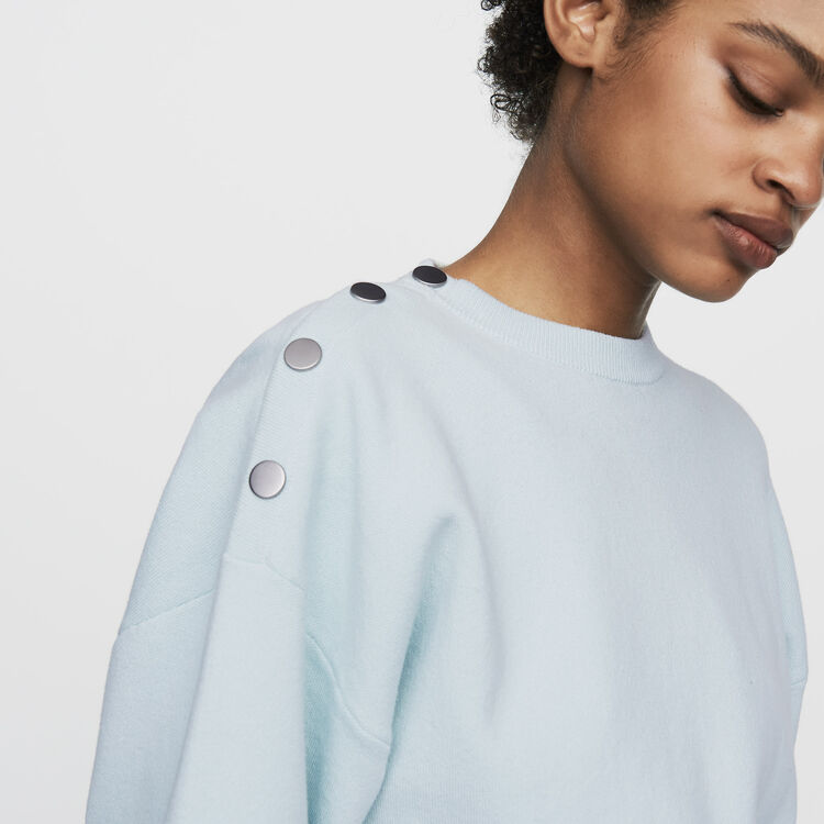 Jersey con botones en los hombros : Malla color ECRU