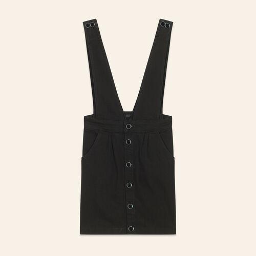 Vestido vaquero con tirantes : Vestidos color Negro