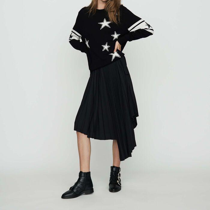 Jersey oversize de punto bicolor : Malla color Negro