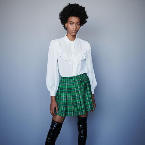 Blusa avolantada : Tops y Camisas color Blanco
