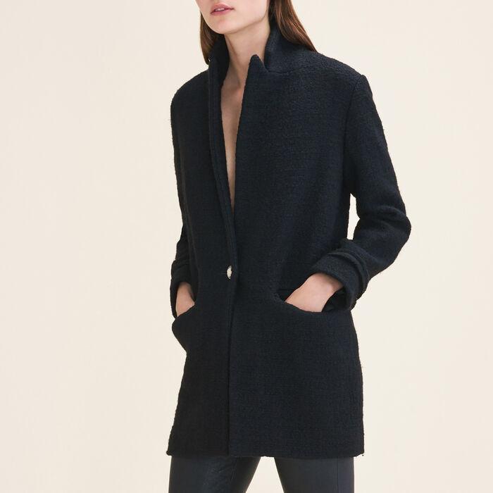 Mittellange Jacke aus Tweed : Chaquetas y Cazadoras color Negro